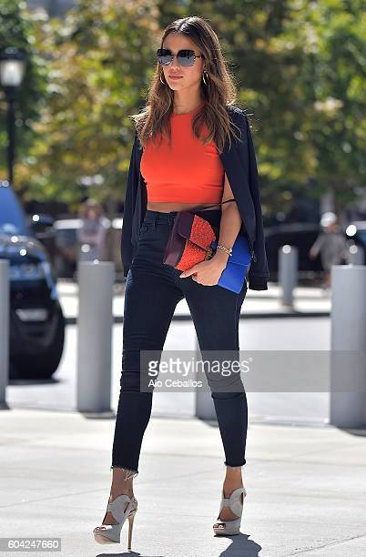 Jessica Alba is seen in Battery Park City on September 13 2016 in New York City