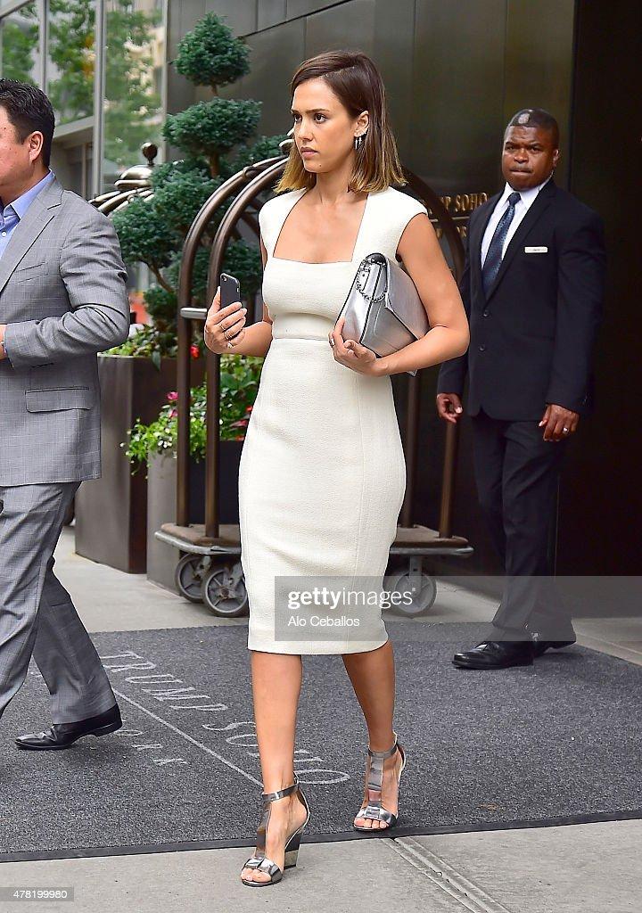 Jessica Alba is seen in Soho on June 23, 2015 in New York City.