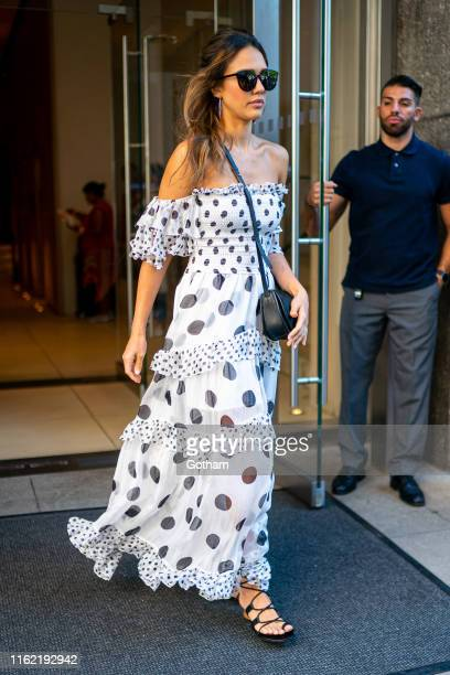 Jessica Alba is seen in the Flatiron District on July 15 2019 in New York City