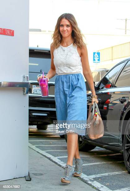 Jessica Alba is seen on August 01 2014 in Los Angeles California