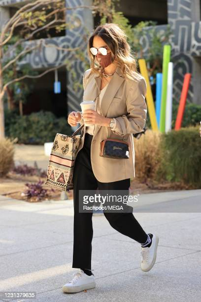 Jessica Alba is seen on February 25, 2021 in Los Angeles, California.
