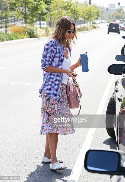 Jessica Alba is seen on June 05 2014 in Los Angeles California