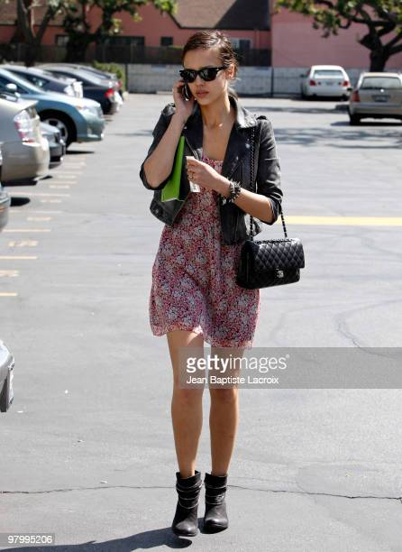 Jessica Alba is seen on March 23 2010 in West Hollywood California