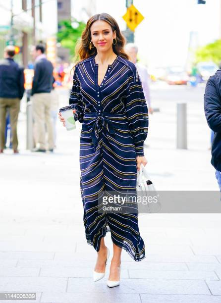 Jessica Alba is seen on May 15 2019 in New York City
