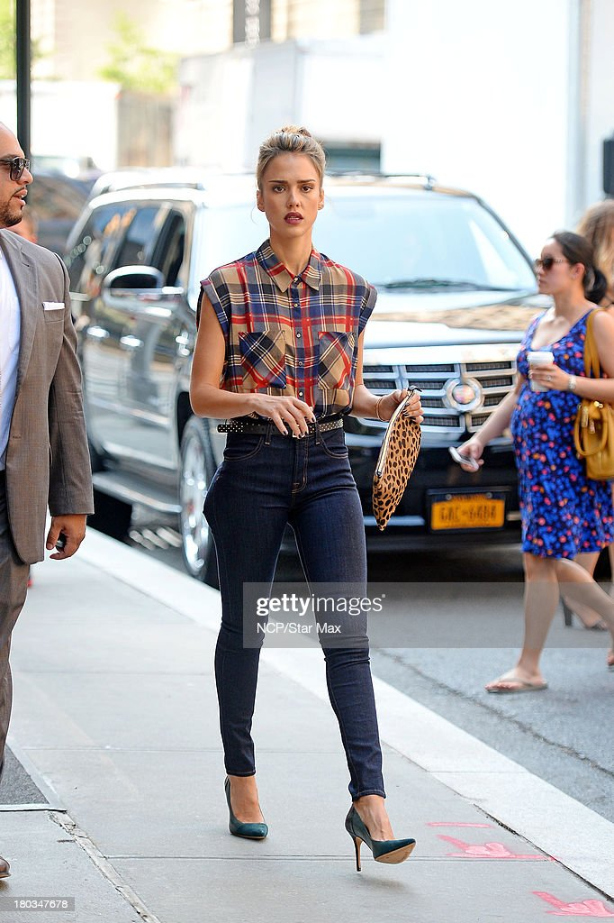 Jessica Alba is seen on September 11, 2013 in New York City.