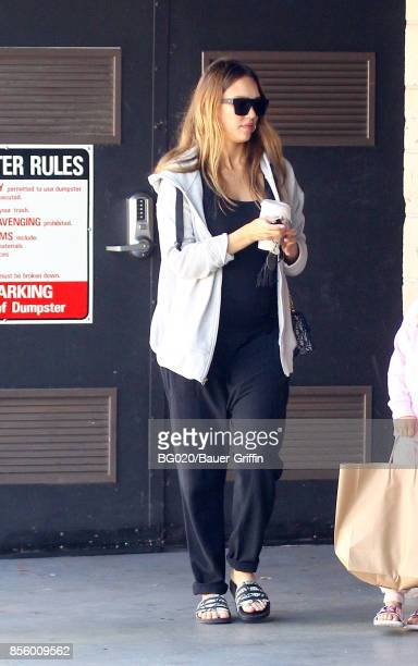 Jessica Alba is seen on September 30 2017 in Los Angeles California