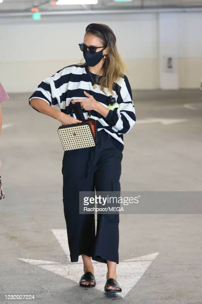 Jessica Alba is seen outside Eataly on March 30, 2021 in Los Angeles, California.