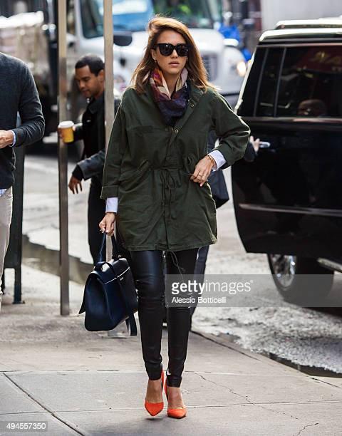 Jessica Alba is seen running errands on October 27 2015 in New York City