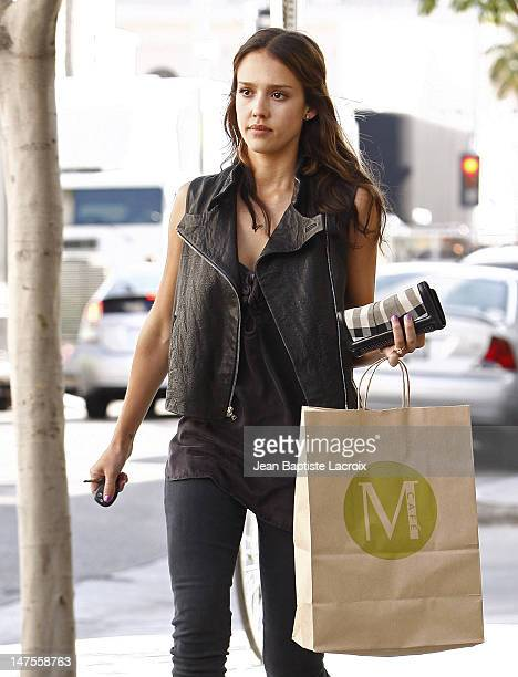 Jessica Alba is seen shopping in Beverly Hills on June 7, 2010 in Los Angeles, California.