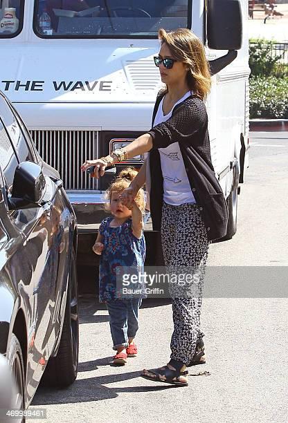 Jessica Alba is seen with her daughter Haven Garner Warren on February 17 2014 in Los Angeles California
