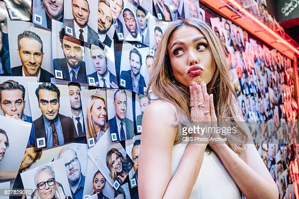Jessica Alba Kate Mara and Ken Jeong chat with James Corden during 'The Late Late Show with James Corden' Wednesday November 30 2016 On The CBS...