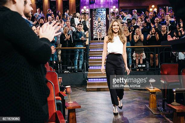 Jessica Alba Kate Mara and Ken Jeong chat with James Corden during The Late Late Show with James Corden Wednesday November 30 2016 On The CBS...