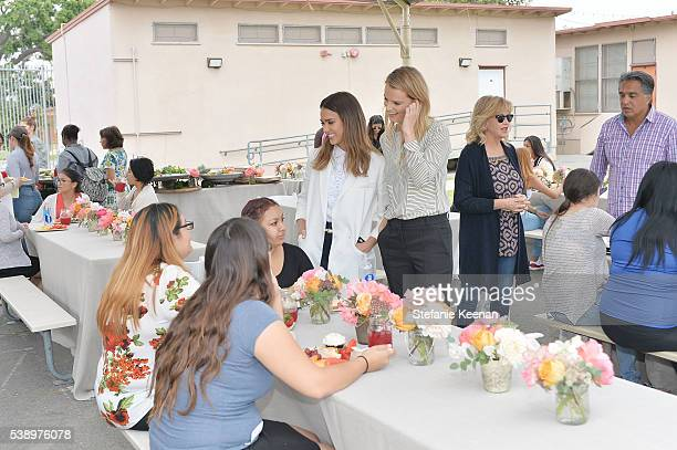 Jessica Alba Kelly Sawyer Patricof and students attend Baby2Baby and The Honest Company Host LAUSD Graduation Event to Support Mothers Pursuing...