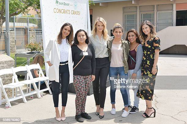 Jessica Alba Kelly Sawyer Patricof Norah Weinstein and graduates attend Baby2Baby and The Honest Company Host LAUSD Graduation Event to Support...