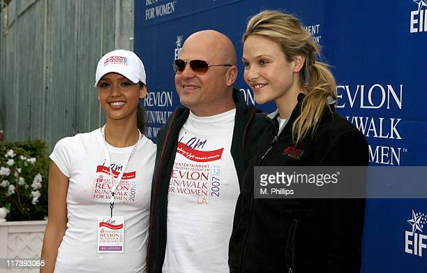 Jessica Alba Michael Chiklis and Beau Garrett during The Entertainment Industry Foundation's 14th Annual Revlon Run/Walk for Women at Los Angeles...