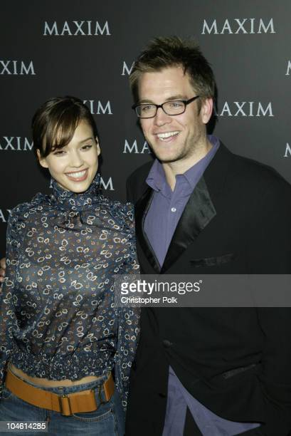 Jessica Alba Michael Weatherly during Maxim Magazine Heats Up LA With The Pussycat DollsArrivals at The Henry Fonda Theatre in Hollywood CA United...