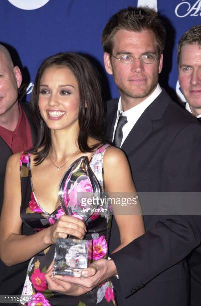 Jessica Alba Michael Weatherly during Peoples Choice 2001