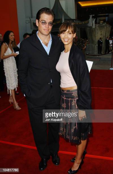 Jessica Alba Michael Weatherly during 'The Italian Job' Premiere Red Carpet Arrivals at Mann's Chinese Theater in Hollywood California United States