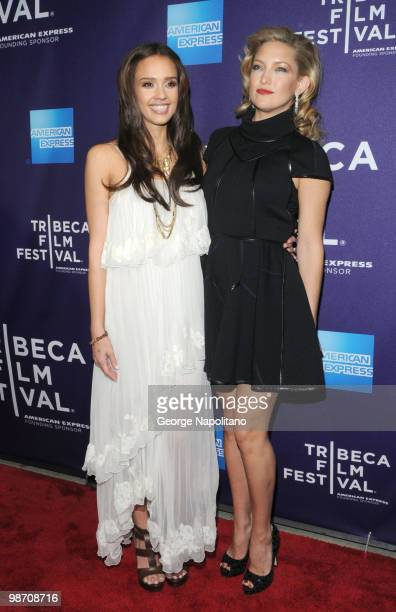 """Jessica Alba nd Kate Hudson attend the """"The Killer Inside Me"""" premiere during the 9th Annual Tribeca Film Festival at the SVA Theater on April 27,..."""
