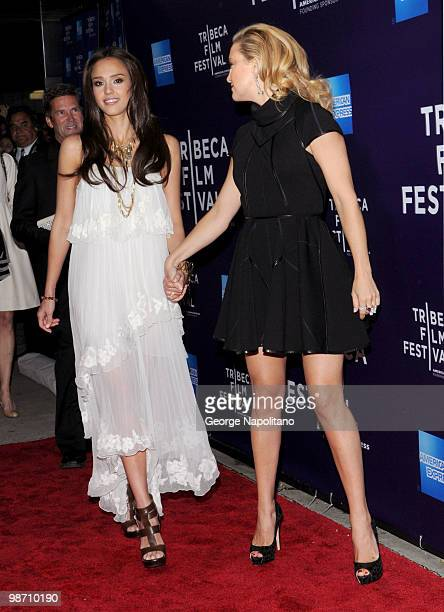 Jessica Alba nd Kate Hudson attend the The Killer Inside Me premiere during the 9th Annual Tribeca Film Festival at the SVA Theater on April 27 2010...