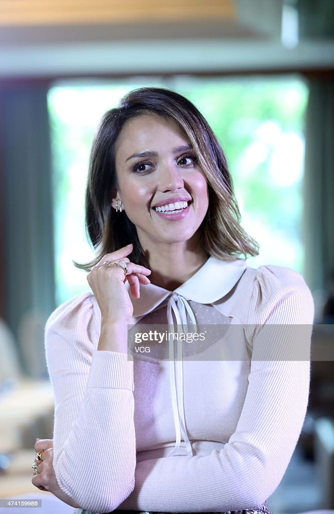 Jessica Alba poses for a photograph during the Global Women Entrepreneurs Conference on May 20, 2015 in Hangzhou, Zhejiang province of China. The Global Women Entrepreneurs Conference hosted by Chinese e-commerce giant Alibaba Group is being held in the eastern Chinese city of Hangzhou on May 20 and global female celebrities such as Arianna Huffington, Liu Qing, president of the recently merged taxi-hailing company Didi Kuaidi Dache, US actress Jessica Alba and Chinese actress Vicki Zhao as well as the only male participant at the meeting Jack Ma are attending the conference. The participants discussed the opportunities and challenges brought by the Internet for women entrepreneurs, as well as how women can shape the world by better interacting with the commercial sector.