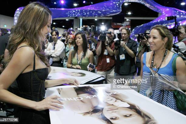 Jessica Alba promoting Lionsgate's 'Good Luck Chuck' at the 2007 Comic Con International convention held at the San Diego Convention Center on July...