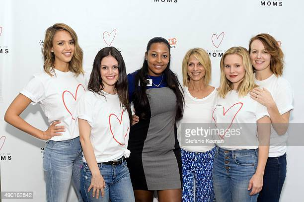 Jessica Alba Rachel Bilson Jessica Chandler Janis Spire Kristen Bell and Rosemarie DeWitt attend Alliance of Moms Presents Raising Baby on September...