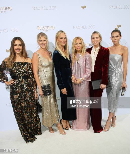Jessica Alba Sarah Wright Olsen Molly Sims Rachel Zoe Erin Foster and Sara Foster attend the Rachel Zoe Spring 2019 LA Presentation at Hotel BelAir...