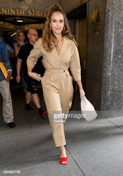 Jessica Alba seen at NBC on July 24 2018 in New York City