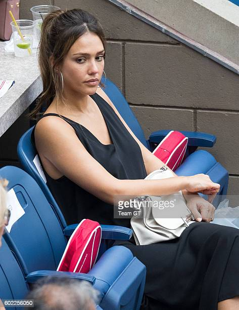 Jessica Alba seen at USTA Billie Jean King National Tennis Center on September 10, 2016 in the Queens borough of New York City.