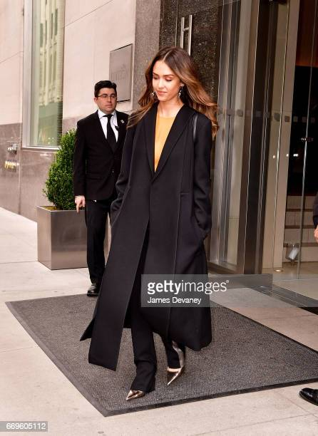 Jessica Alba seen on the streets of Manhattan on April 17 2017 in New York City