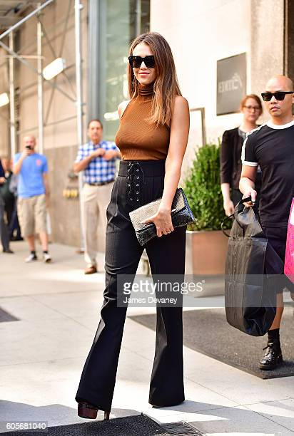 Jessica Alba seen on the streets of Manhattan on September 14 2016 in New York City