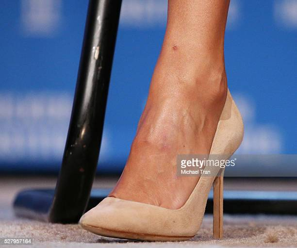 Jessica Alba shoe detail onstage during the 2016 Milken Institute Global Conference held at The Beverly Hilton Hotel on May 03 2016 in Beverly Hills...