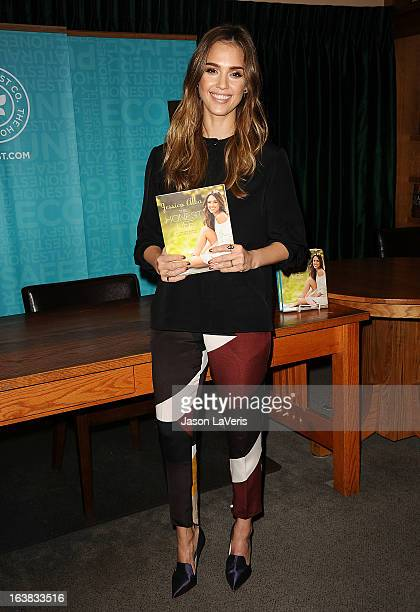 """Jessica Alba signs copies of her new book """"The Honest Life"""" at Vroman's Bookstore on March 16, 2013 in Pasadena, California."""