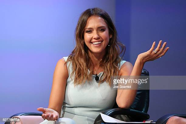 Jessica Alba speaks onstage at the 2016 Milken Institute Global Conference on May 03 2016 in Beverly Hills California