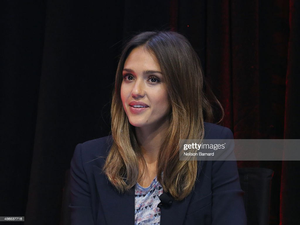 Jessica Alba speaks onstage during An Honest Conversation with Jessica Alba and Christopher Gavigan on September 29, 2014 in New York City.