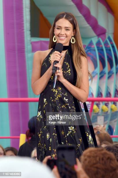 Jessica Alba speaks onstage during FOX's Teen Choice Awards 2019 on August 11 2019 in Hermosa Beach California