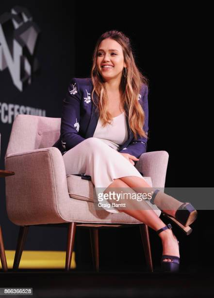 Jessica Alba speaks onstage for Passion Play How Jessica Alba and Mario Batali Created Multichannel Marvels during the Fast Company Innovation...