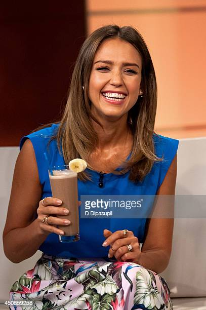 "Jessica Alba visits ""FOX & Friends"" at FOX Studios on June 19, 2014 in New York City."