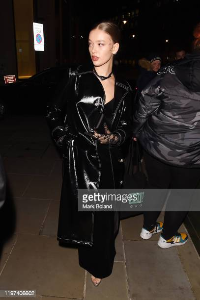 Jessica Alexander arrives at the dunhill Dylan Jones PreBAFTA party at dunhill Bourdon House on January 29 2020 in London England