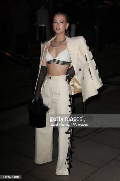 Jessica Alexander arrives at the Late Fabulous Fund Fair at the Roundhouse in London during the Autumn/Winter 2019 London Fashion Week PRESS...