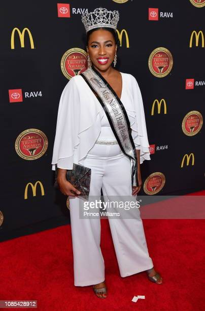 Jessica Alexander attends 2019 Trumpet awards at Cobb Energy Performing Arts Center on January 19 2019 in Atlanta Georgia