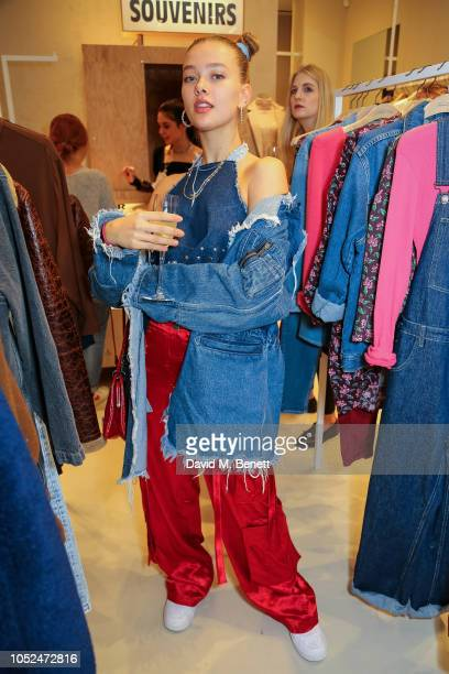 Jessica Alexander attends the American Vintage store opening in Marylebone on October 18 2018 in London England