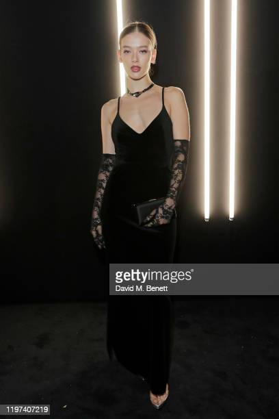 Jessica Alexander attends the dunhill Dylan Jones PreBAFTA party at dunhill Bourdon House on January 29 2020 in London United Kingdom