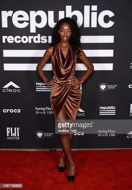Jessica Allain attends Republic Records Grammy after party at Spring Place Beverly Hills on February 10 2019 in Beverly Hills California
