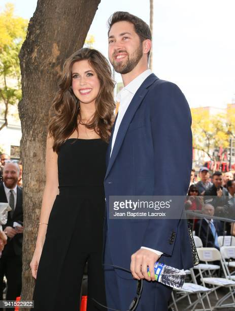 Jessica Altma and James Altman attend a ceremony honoring Lynda Carter with a star on The Hollywood Walk Of Fame on April 3 2018 in Hollywood...