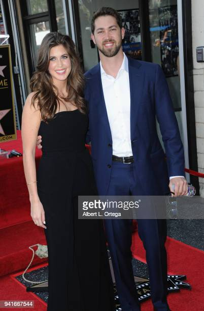 Jessica Altman and James Altman attend a ceremony honoring mother Lynda Carter with the 2632nd star on the Hollywood Walk of Fame on April 3 2018 in...