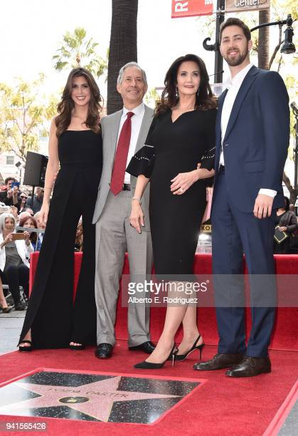 Jessica Altman Robert A Altman Lynda Carter and James Altman attend a ceremony honoring Lynda Carter with the 2632nd star on the Hollywood Walk of...