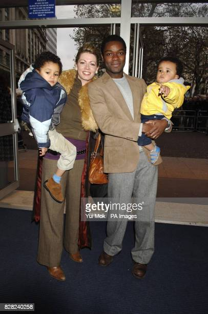 Jessica and David Oyelowo arrive with children Asher and Caleb for the UK premiere of 'It's A Boy' from the Odeon West End central London Sunday 27...