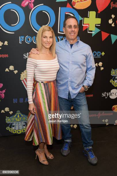Jessica and Jerry Seinfeld attend GOOD Foundation's 2017 NY Bash at Victorian Gardens in Central park on May 31 2017 in New York City